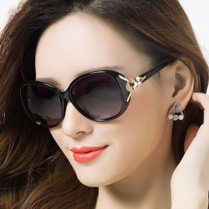 KINGSEVEN Polarized Sunglasses with Crystal Fox